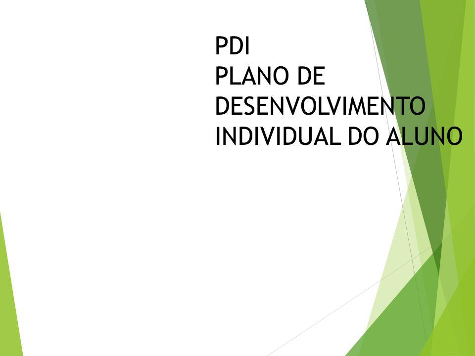 PDI PLANO DE DESENVOLVIMENTO INDIVIDUAL DO ALUNO