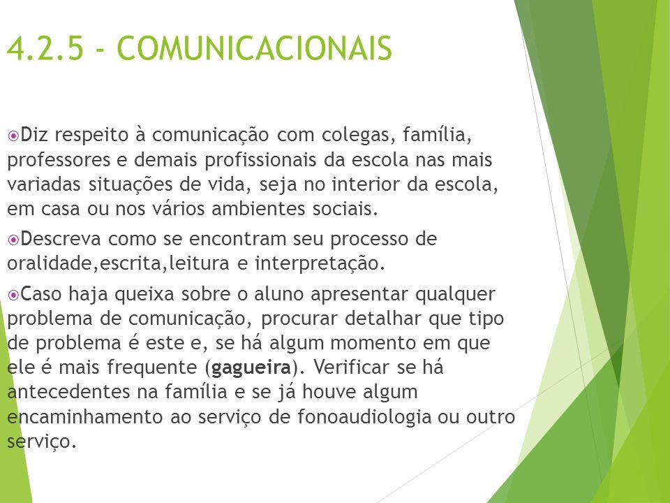 4.2.5 - COMUNICACIONAIS
