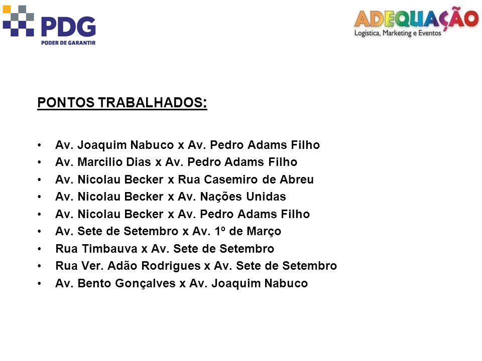 PONTOS TRABALHADOS: Av. Joaquim Nabuco x Av. Pedro Adams Filho