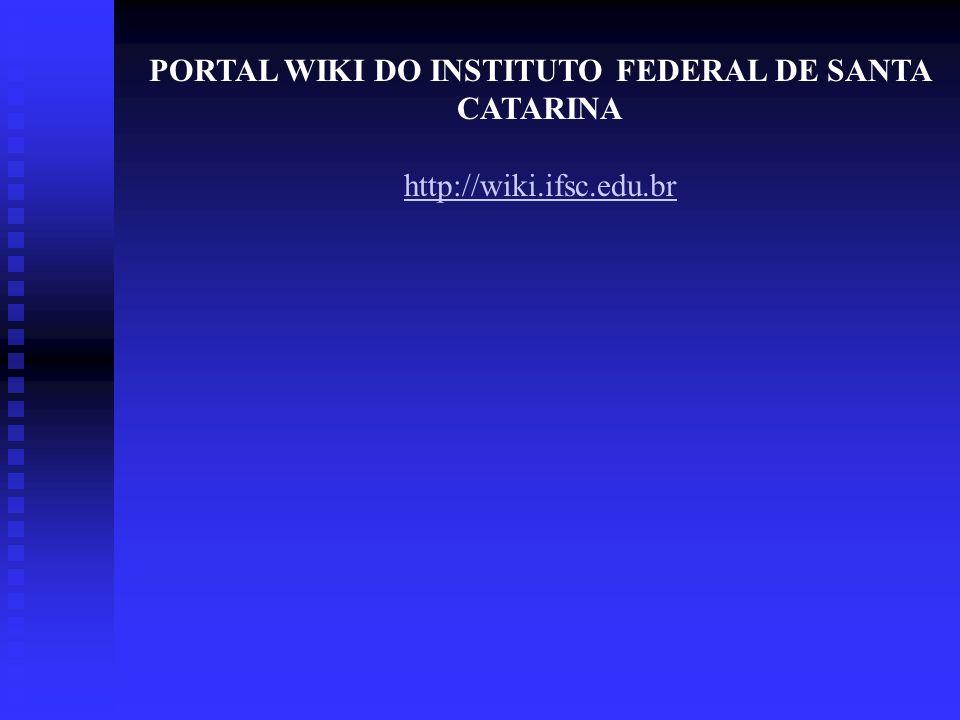PORTAL WIKI DO INSTITUTO FEDERAL DE SANTA CATARINA