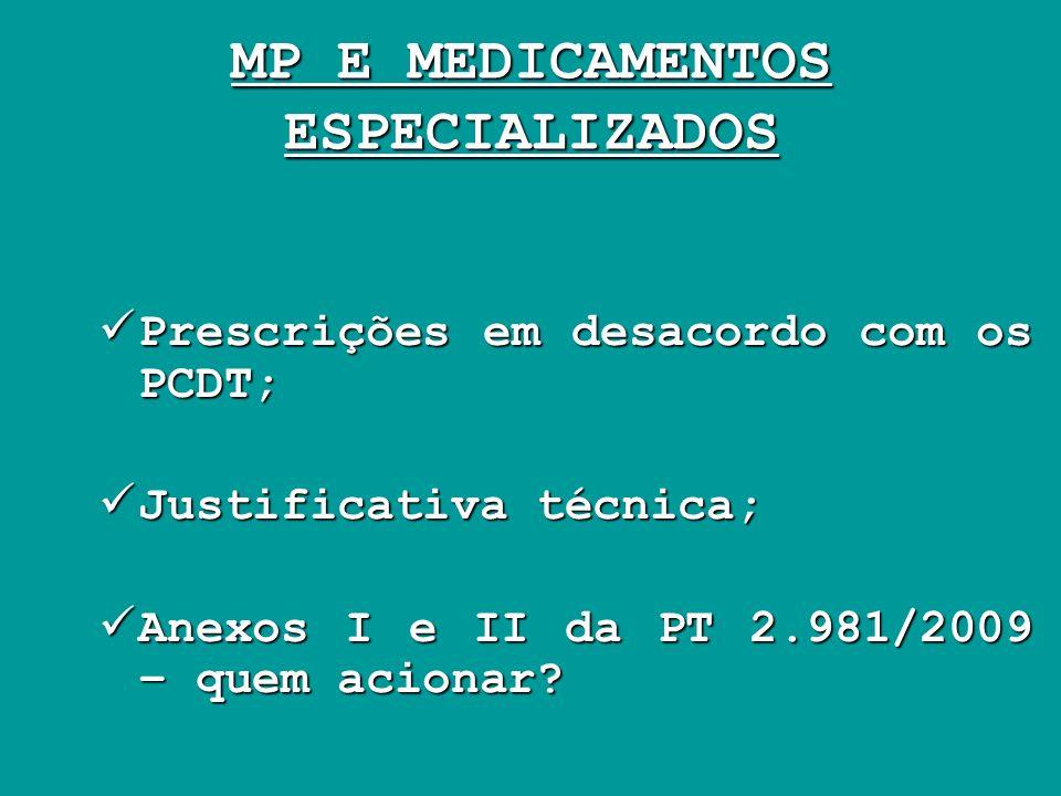 MP E MEDICAMENTOS ESPECIALIZADOS