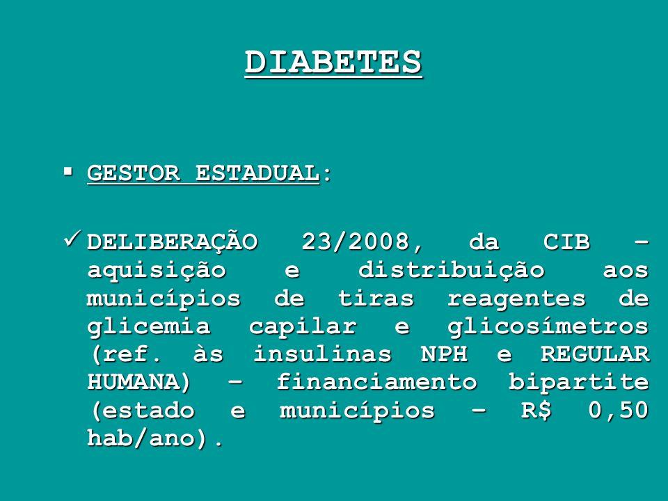 DIABETES GESTOR ESTADUAL: