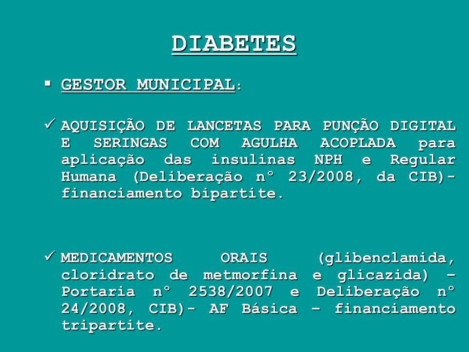 DIABETES GESTOR MUNICIPAL: