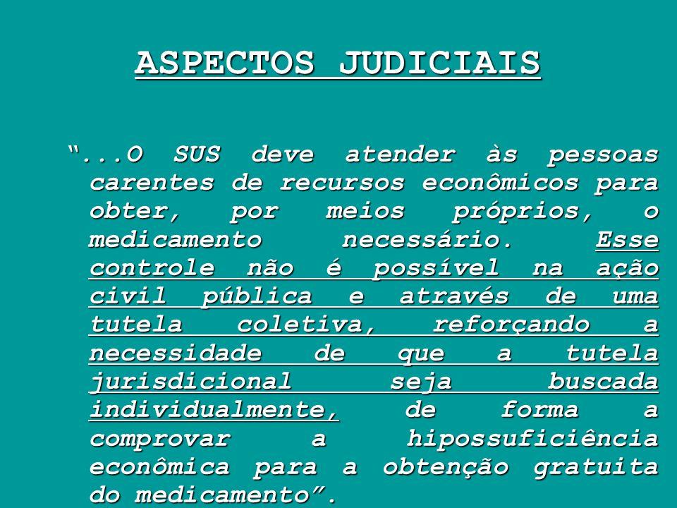 ASPECTOS JUDICIAIS