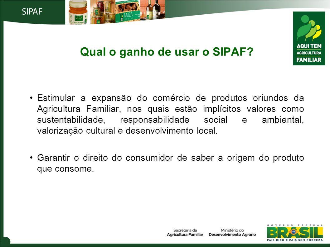 Qual o ganho de usar o SIPAF