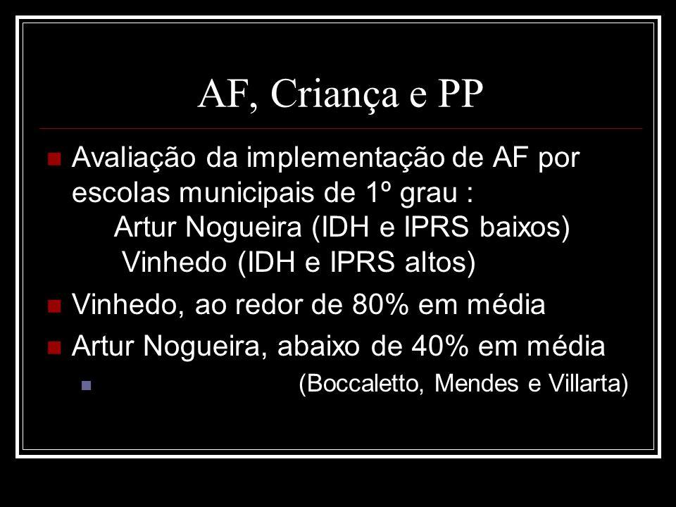 AF, Criança e PP