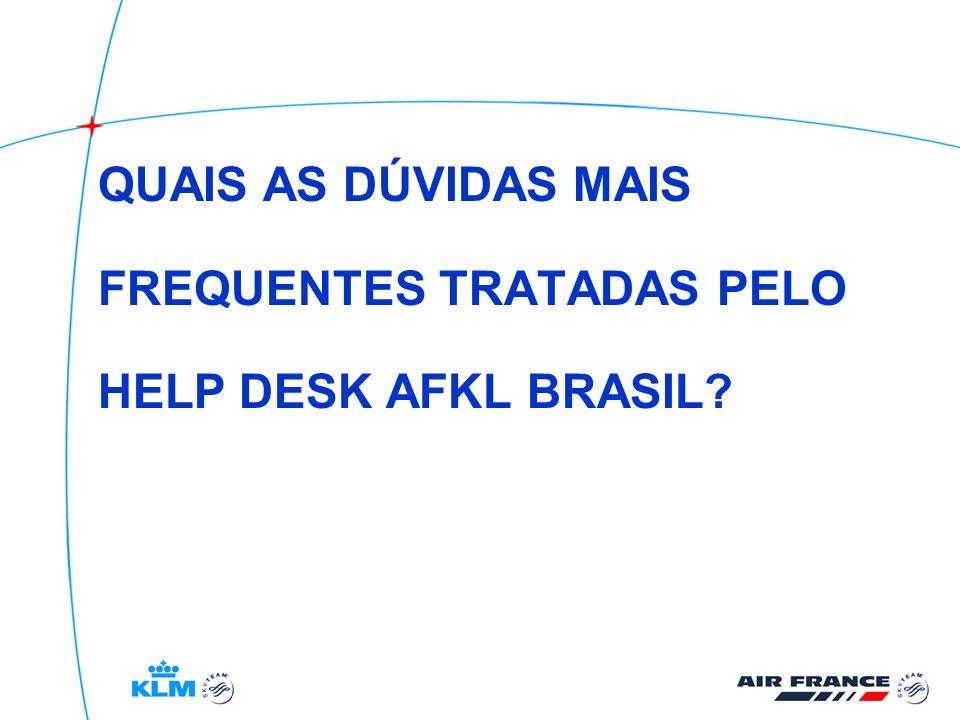 QUAIS AS DÚVIDAS MAIS FREQUENTES TRATADAS PELO HELP DESK AFKL BRASIL