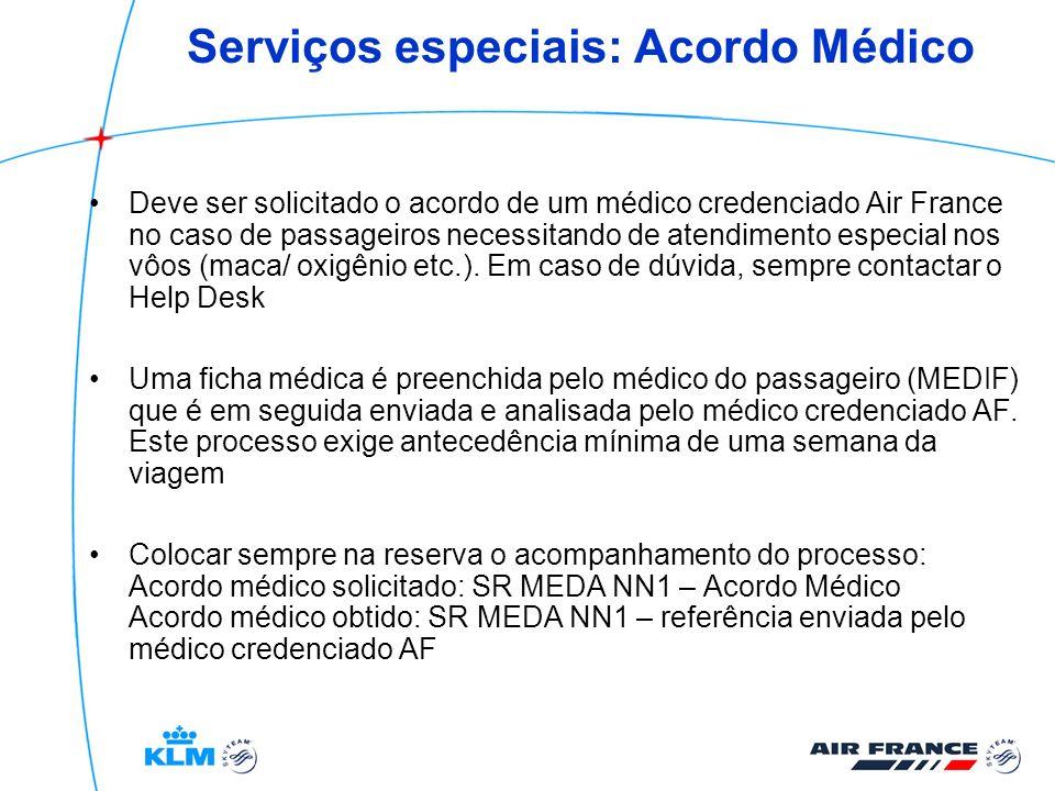 Serviços especiais: Acordo Médico