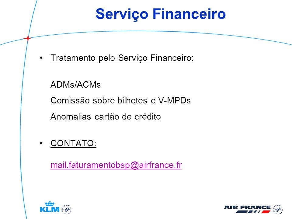 Serviço Financeiro Tratamento pelo Serviço Financeiro: ADMs/ACMs