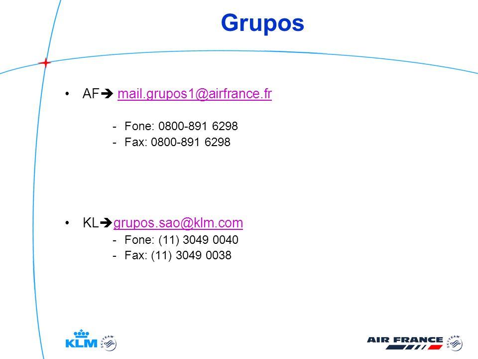 Grupos AF mail.grupos1@airfrance.fr KLgrupos.sao@klm.com