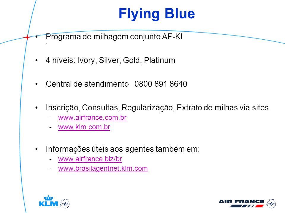 Flying Blue Programa de milhagem conjunto AF-KL `