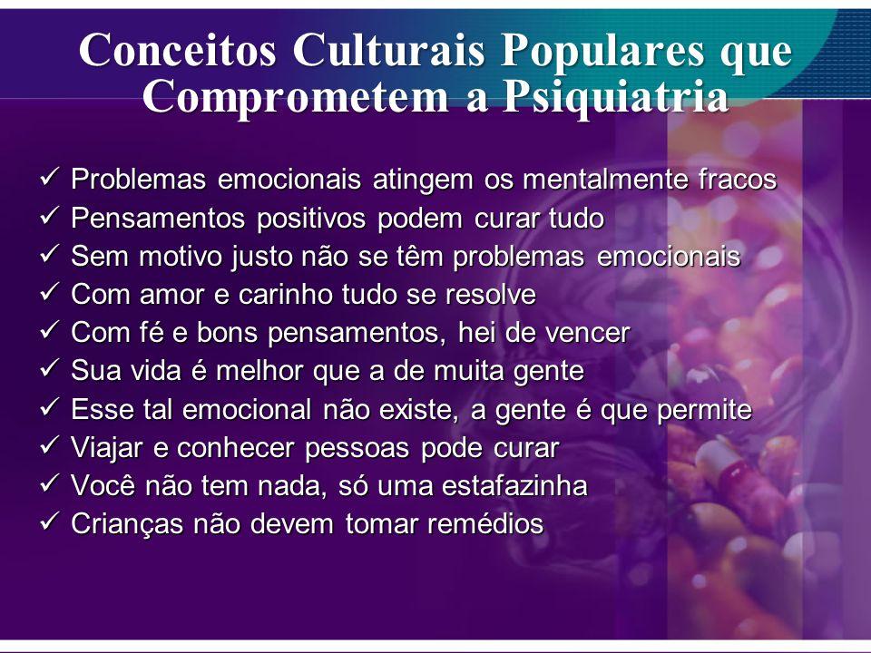 Conceitos Culturais Populares que Comprometem a Psiquiatria
