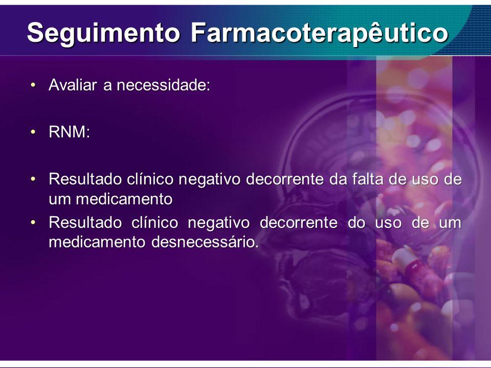 Seguimento Farmacoterapêutico