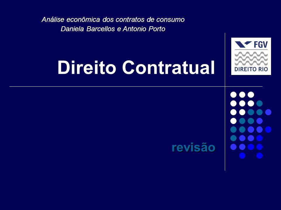 Direito Contratual revisão Análise econômica dos contratos de consumo