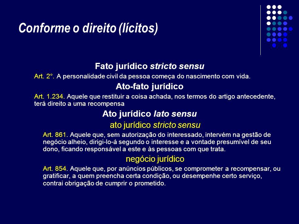 Conforme o direito (lícitos)