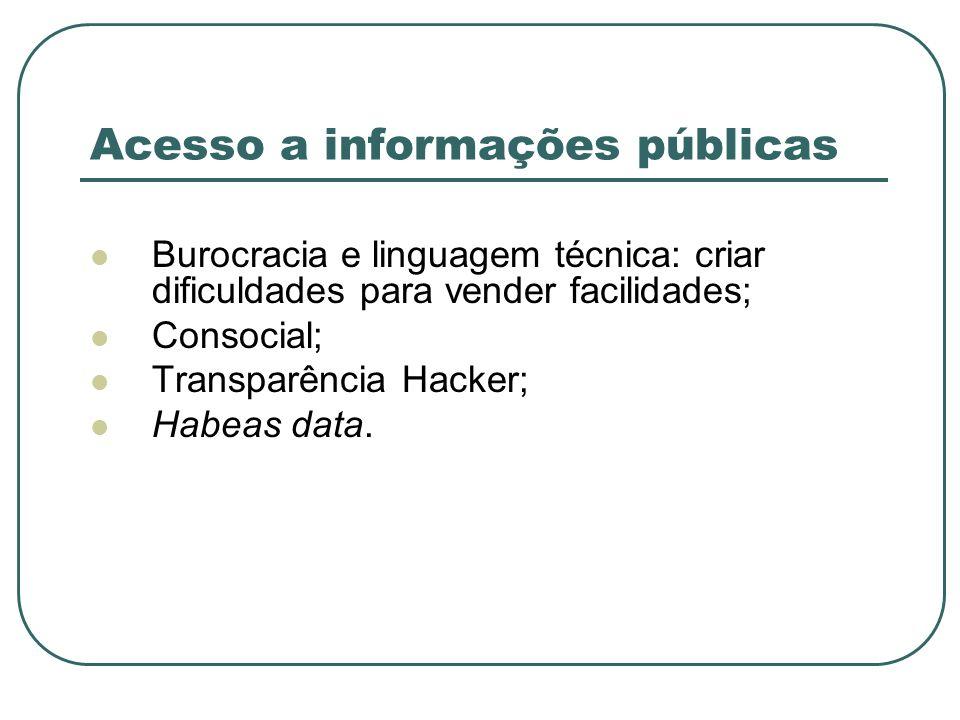 Acesso a informações públicas