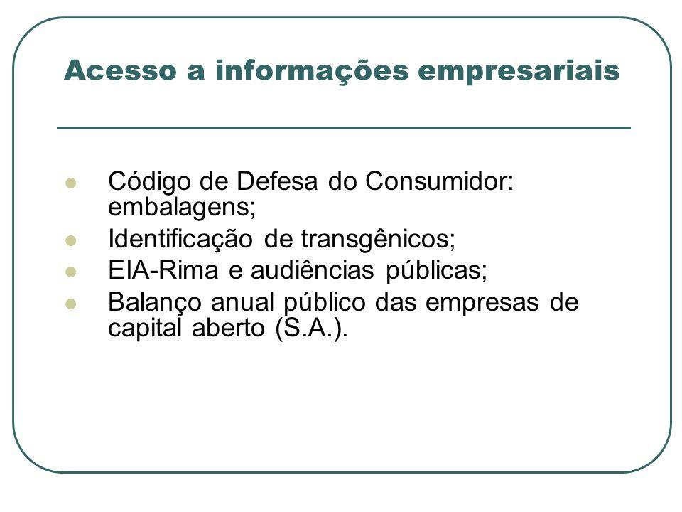 Acesso a informações empresariais