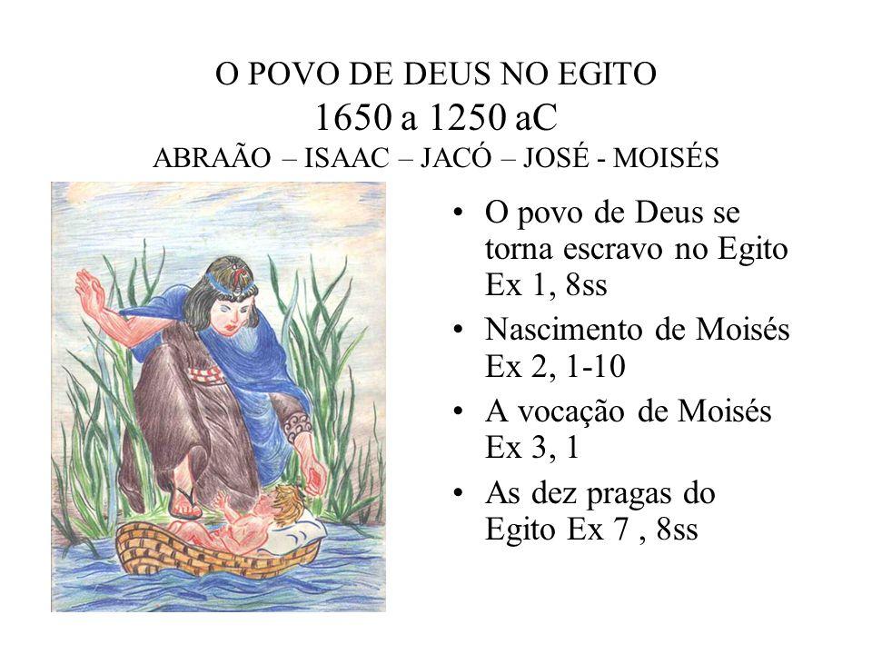 O POVO DE DEUS NO EGITO 1650 a 1250 aC ABRAÃO – ISAAC – JACÓ – JOSÉ - MOISÉS