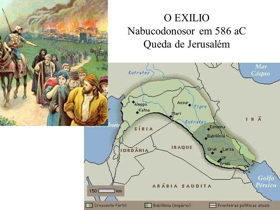 O EXILIO Nabucodonosor em 586 aC Queda de Jerusalém