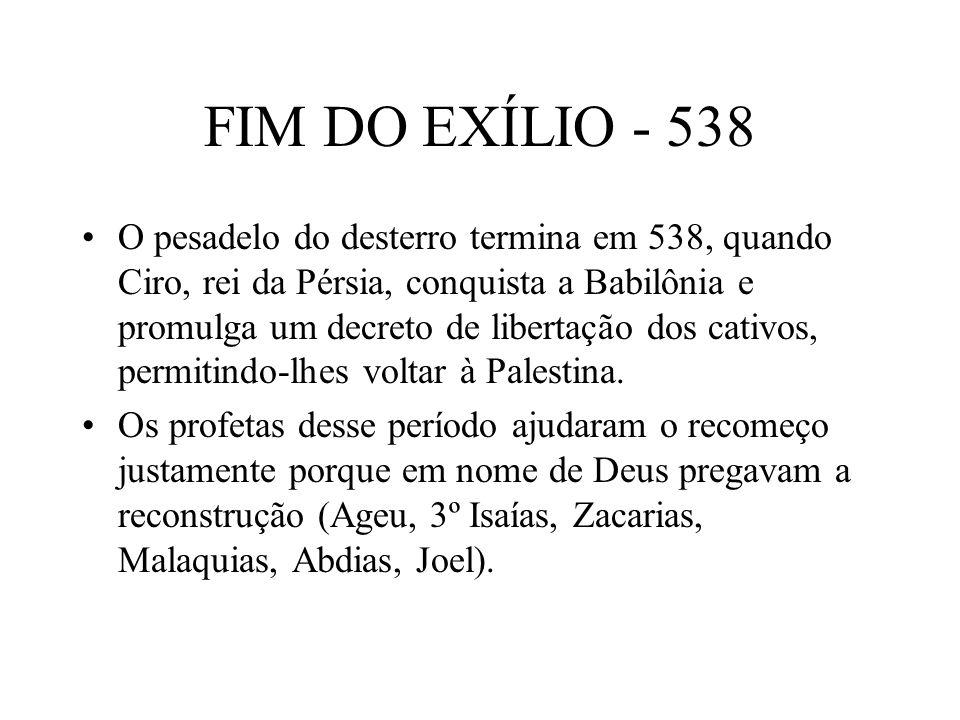 FIM DO EXÍLIO - 538
