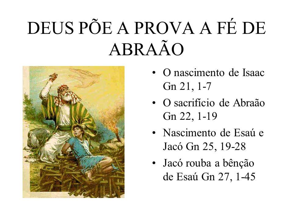 DEUS PÕE A PROVA A FÉ DE ABRAÃO