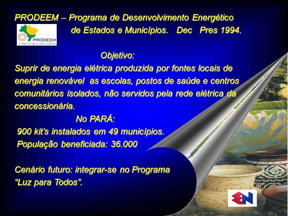 PRODEEM – Programa de Desenvolvimento Energético