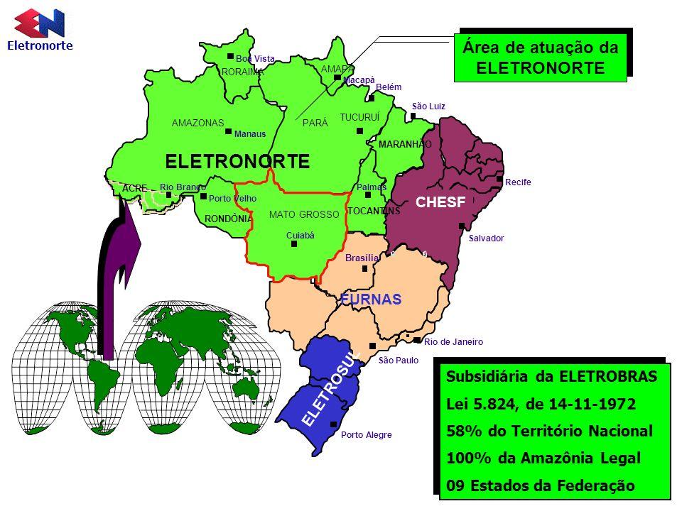 Área de atuação da ELETRONORTE