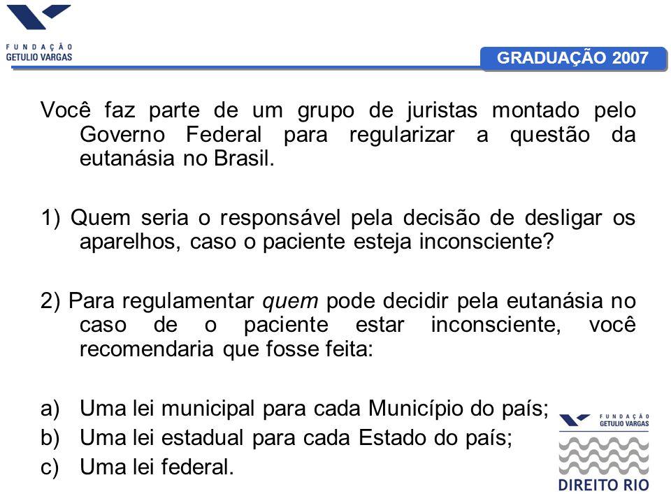 Você faz parte de um grupo de juristas montado pelo Governo Federal para regularizar a questão da eutanásia no Brasil.