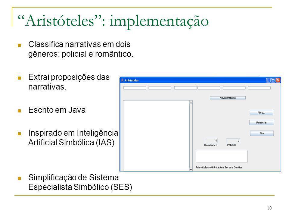 Aristóteles : implementação