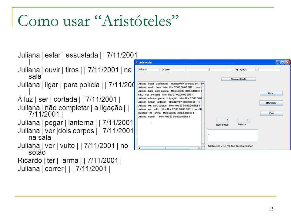 Como usar Aristóteles