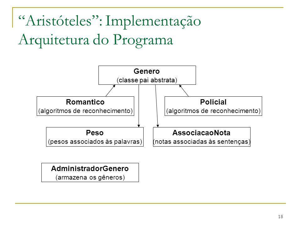 Aristóteles : Implementação Arquitetura do Programa