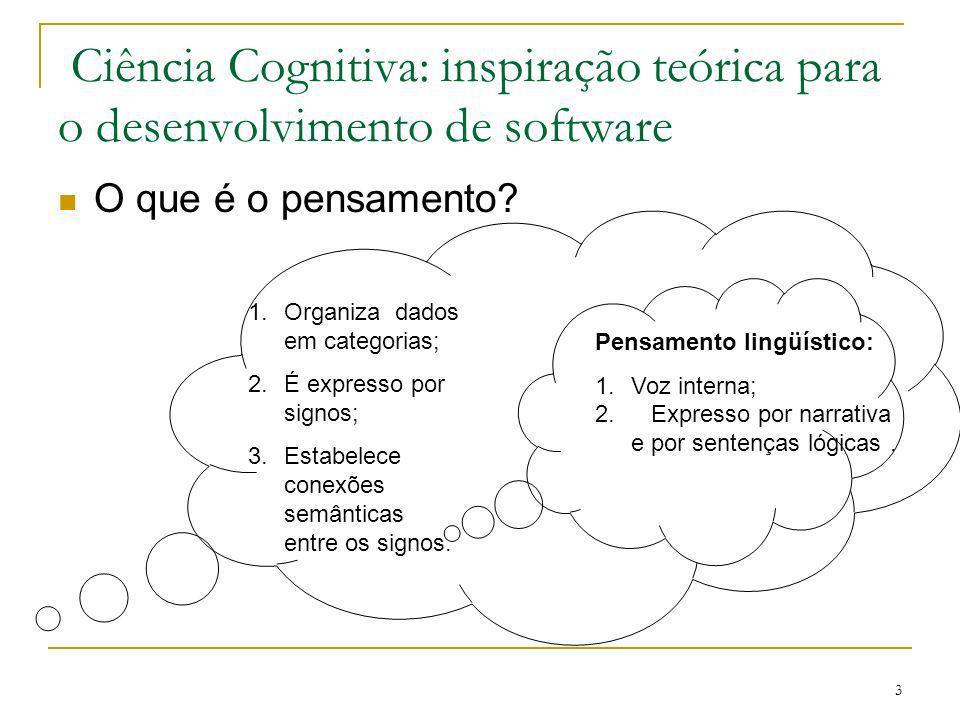 Ciência Cognitiva: inspiração teórica para o desenvolvimento de software