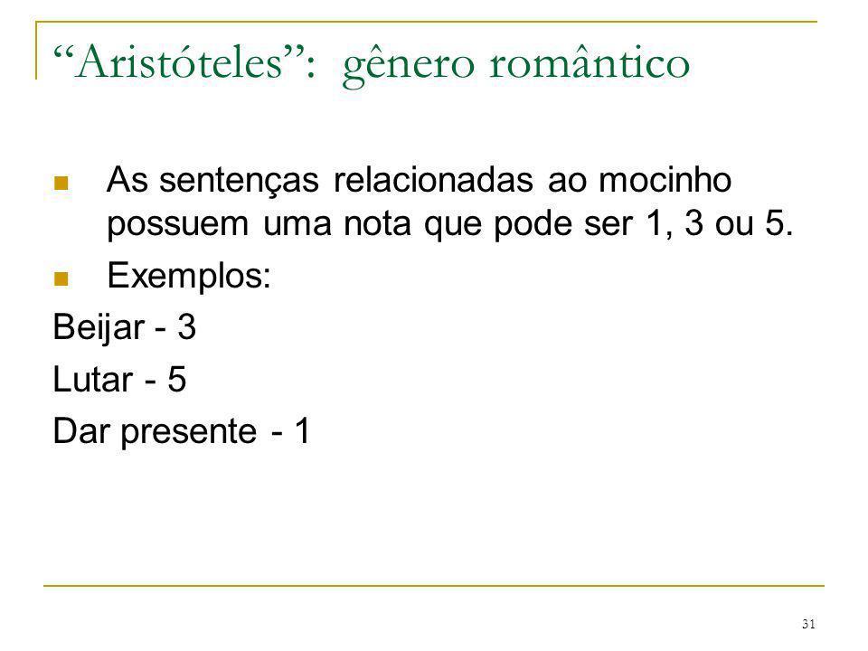 Aristóteles : gênero romântico