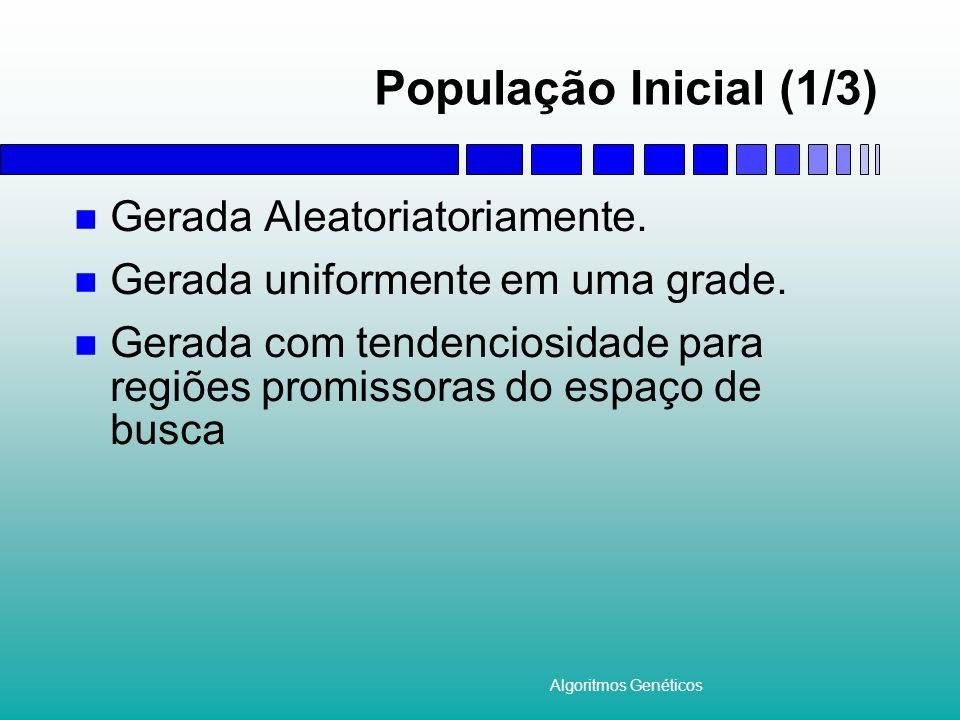 População Inicial (1/3) Gerada Aleatoriatoriamente.