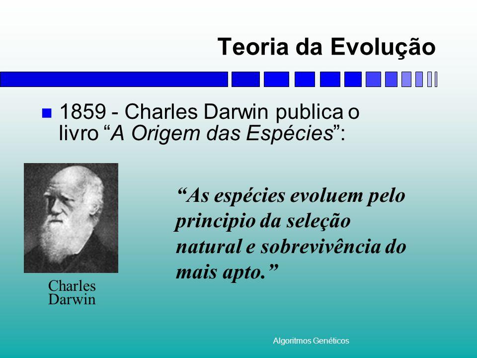 Teoria da Evolução 1859 - Charles Darwin publica o livro A Origem das Espécies : .