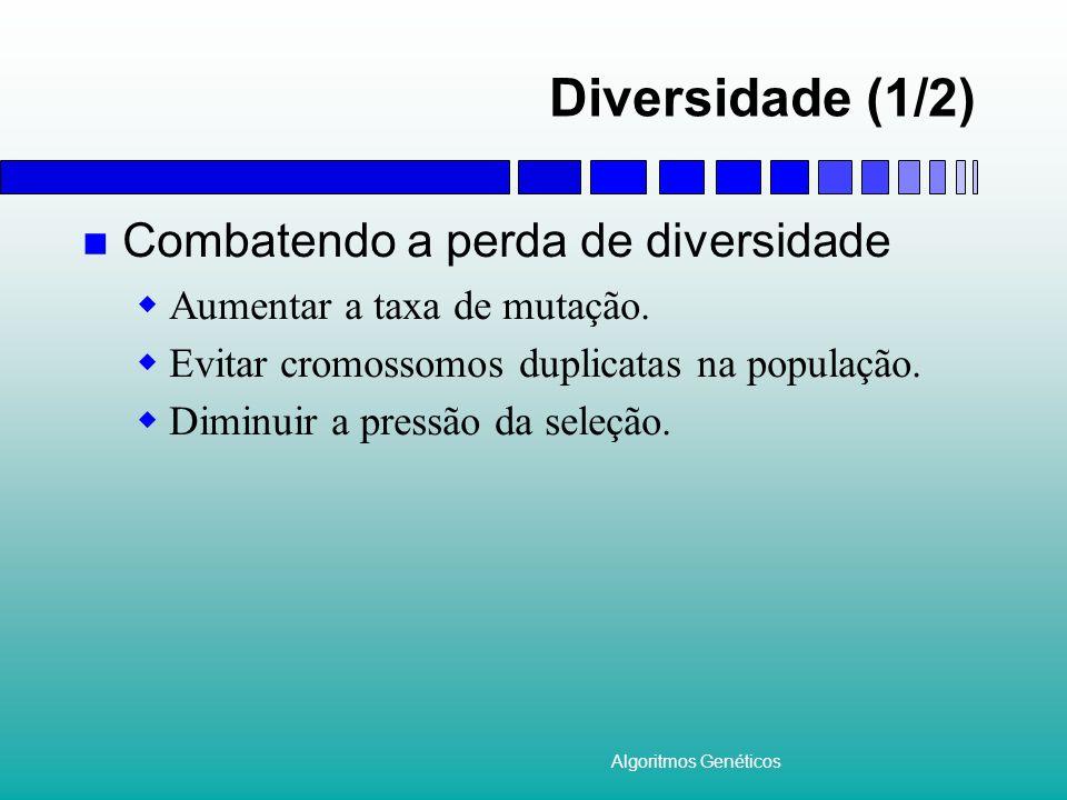 Diversidade (1/2) Combatendo a perda de diversidade