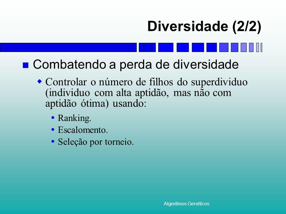 Diversidade (2/2) Combatendo a perda de diversidade