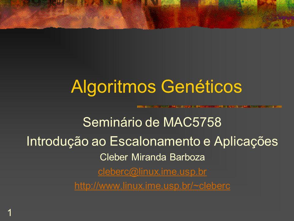 Algoritmos Genéticos Seminário de MAC5758