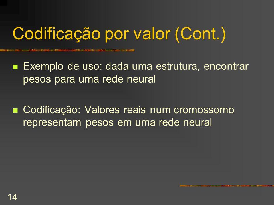 Codificação por valor (Cont.)