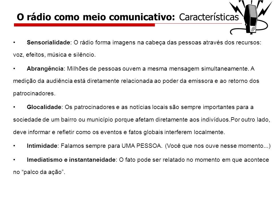 O rádio como meio comunicativo: Características