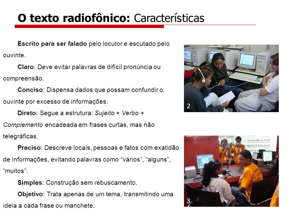 O texto radiofônico: Características