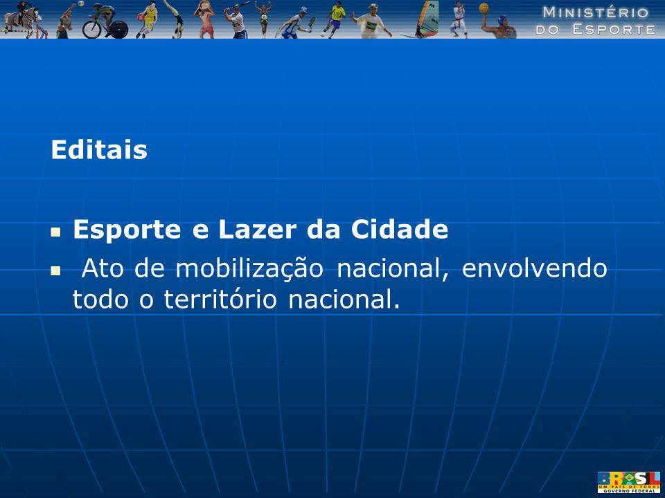 Editais Esporte e Lazer da Cidade.