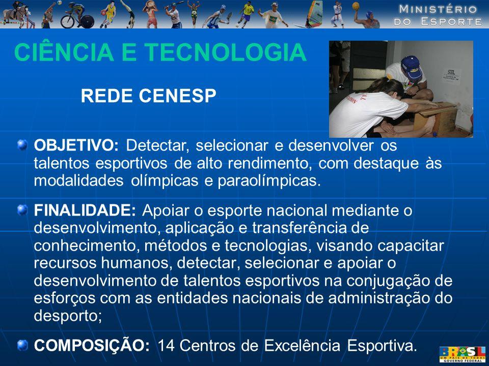 CIÊNCIA E TECNOLOGIA REDE CENESP