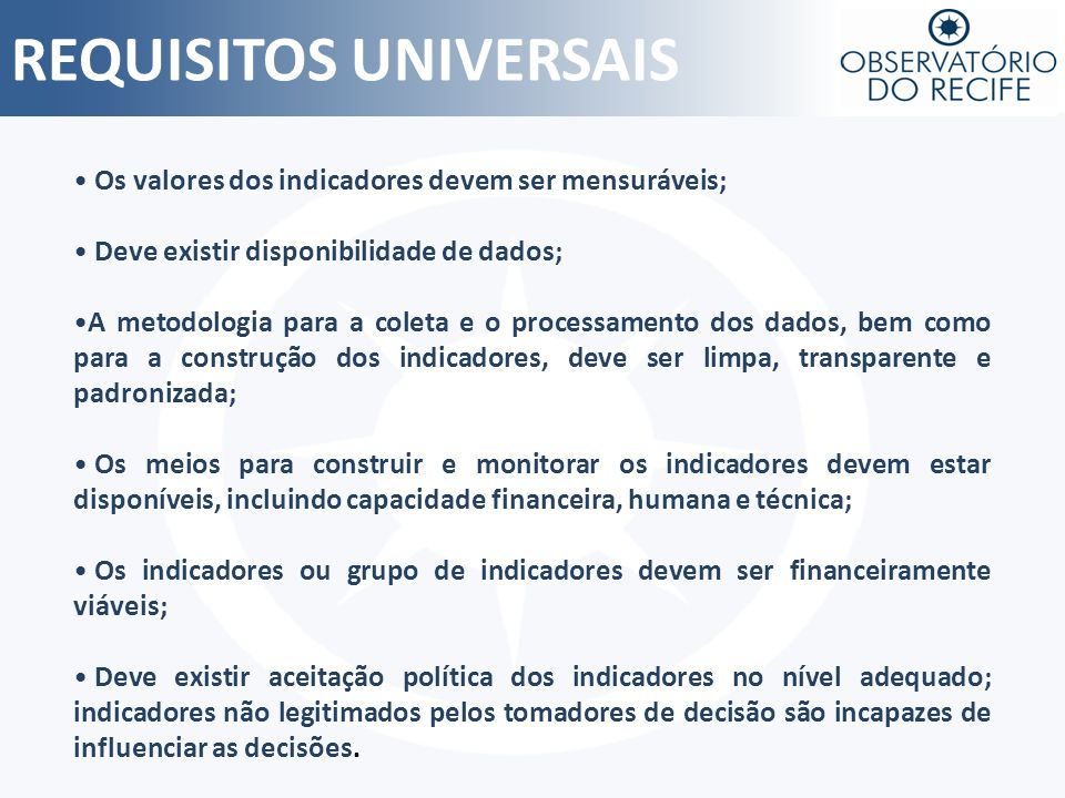 REQUISITOS UNIVERSAIS