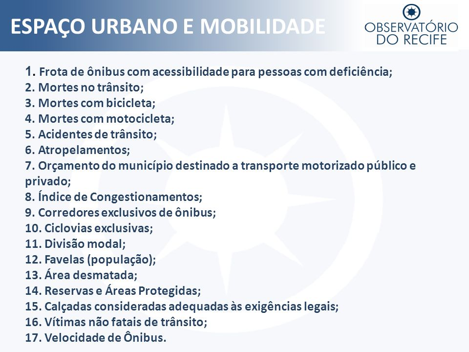ESPAÇO URBANO E MOBILIDADE
