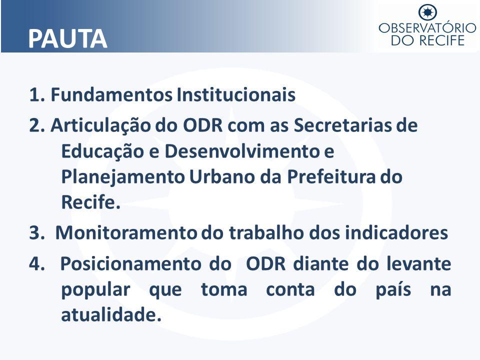 PAUTA 1. Fundamentos Institucionais