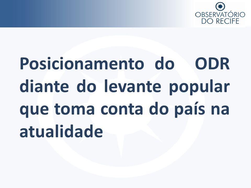 Posicionamento do ODR diante do levante popular que toma conta do país na atualidade