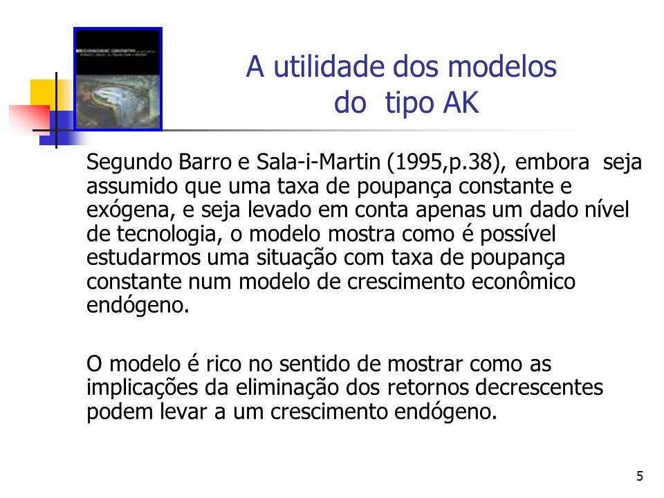 A utilidade dos modelos do tipo AK