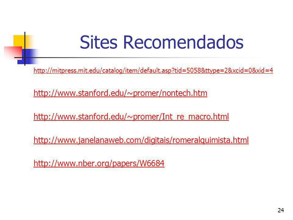 Sites Recomendados http://www.stanford.edu/~promer/nontech.htm