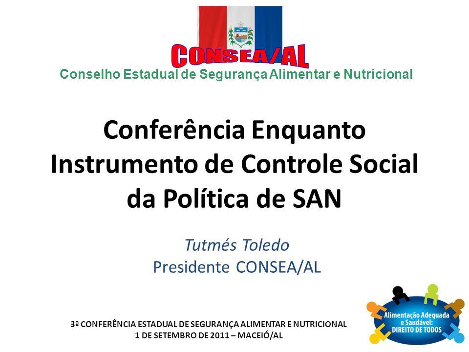Conferência Enquanto Instrumento de Controle Social da Política de SAN